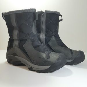 KEEN Black and Grey Side Zip Hiker Winter Boots